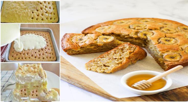 Banana Coconut Poke Cake - A Delicious Baked Coconut Cake Recipe